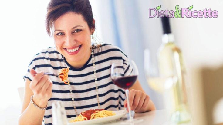 dimagrire mangiando pasta - dieta con menu