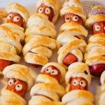 Wurstel Mummia ricetta salata di Halloween con pasta sfoglia