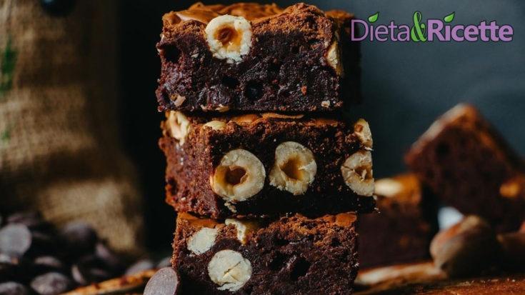 brownies originali americani con nocciole e cioccolato