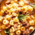 Pasta e fagioli ricetta classica da fare con i borlotti secchi
